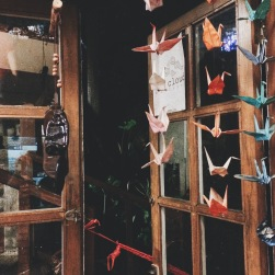 Remind me to learn how to make paper cranes!